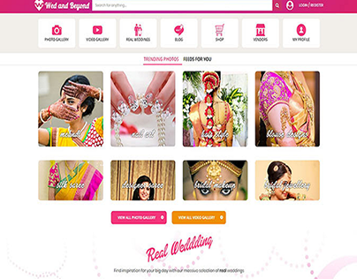 Dynamic Website for wedandbeyond
