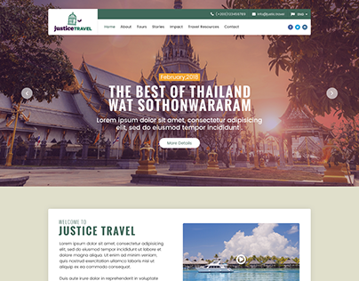 Just travel home page design concept