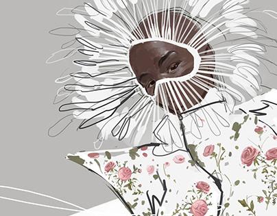 Illustration inspired by GianBattistaValli HauteCouture