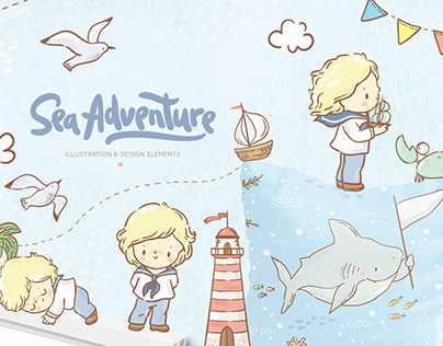 Sea adventure for boy
