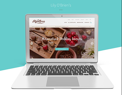 UX/UI of Lily O'Brien's Chocolates Website
