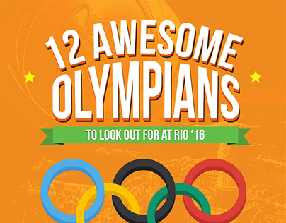 12 Awesome Olympians Infographic
