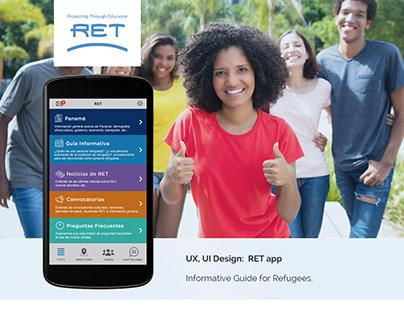 UX, UI App Design: RET