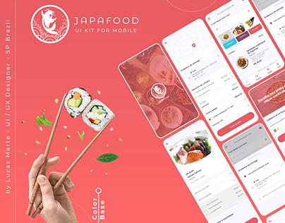 JAPA FOOD - UI / UX DESIGN For mobile - Adobe XD