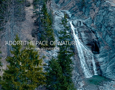 """ADOPT THE PACE OF NATURE"""