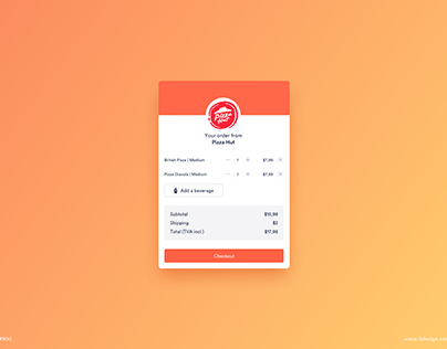 Day 900 • Shopping Cart UI Design