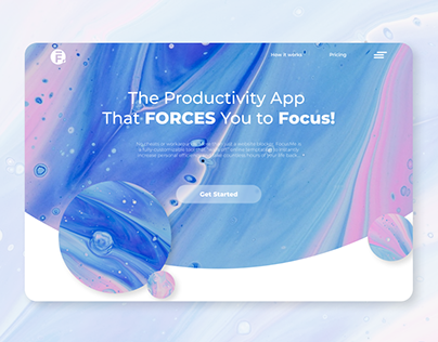 Web Landing page and login page UIUX