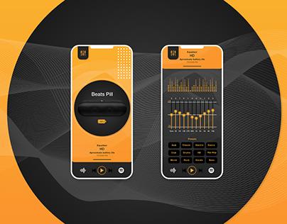 UI design of music equaliser