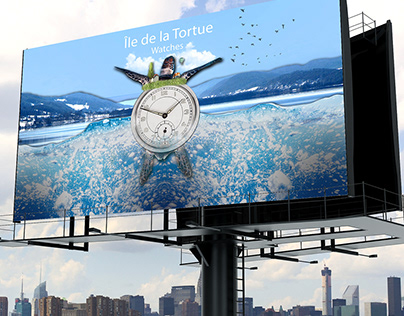 Surreal collage Watch Advertisement
