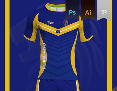 Thailand Home Kit 2016 - Kabbadi World Cup