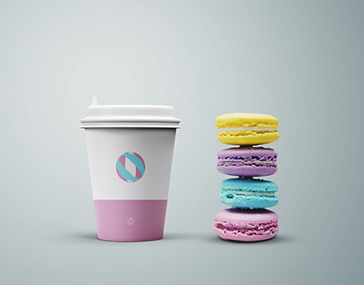 Cookies and Coffee Cup Mockup