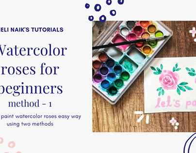 YouTube Thumbnails for watercolor artist