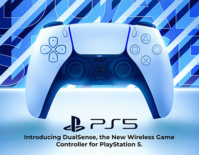 Animated PS5 Controller Advertisement