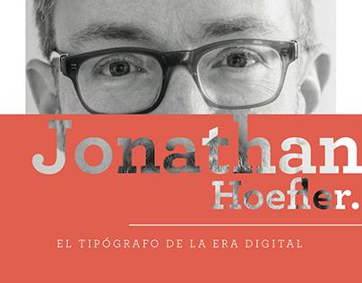 Jonathan Hoefler: El tipógrafo de la era digital