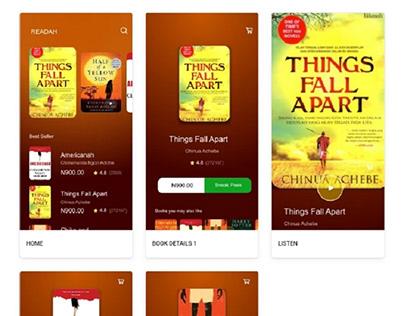 READAH - Audio Book Mobile App UI