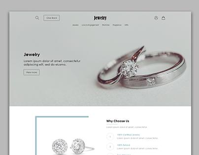 Jewelry Website Mockup 2
