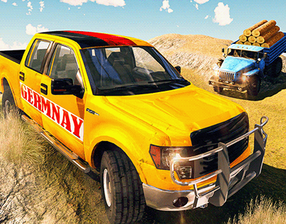 Off-road truck Game Screenshots-gui/ui/ux app icon logo
