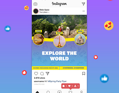Travel Social media post + Travel Flyer