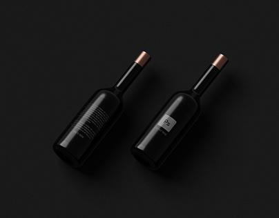 Free - Dark Bottles Mockup