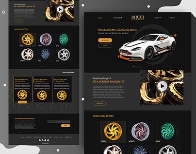 Rucci Forged Website Redesign