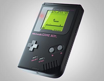 Nintendo Gameboy Black Edition - CGI