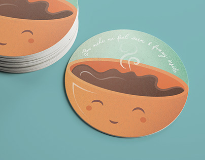 Award winning coffee coaster design