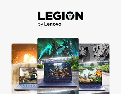 Social Media assets for Lenovo Legion