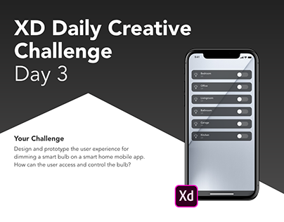 XD Daily Creative Challenge Day 3 - Dimming smart bulb