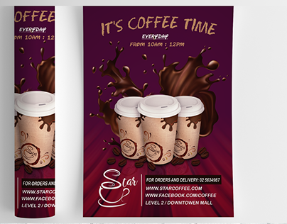 Coffee shop logo,flyer,info graphic and menu