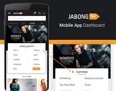 Jabong Home Screen Design