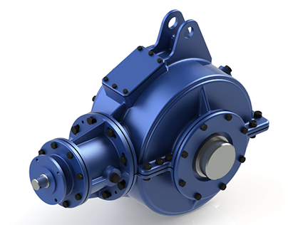 Reducer with conical gear wheels 3D SolidWorks