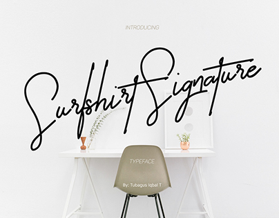 Surfshirt Signature typeface