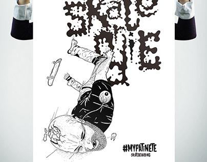 Skate or die - ilustraciones & tipografía