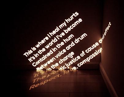 Lyrics on the wall