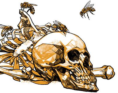 Como abejas libando sobre hueso