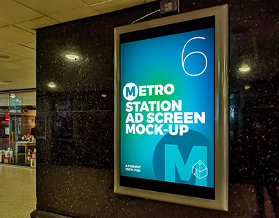 Metro Station Ad Screen Mock-Ups 2