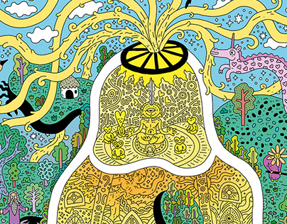 esquire illustration about damanhur society