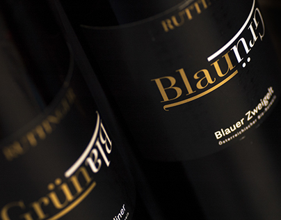 Design GrünBlau Wine Labels