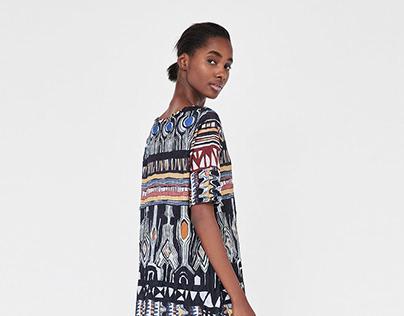 African print / Zara woman