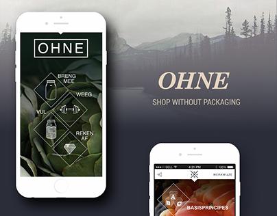 OHNE - app design