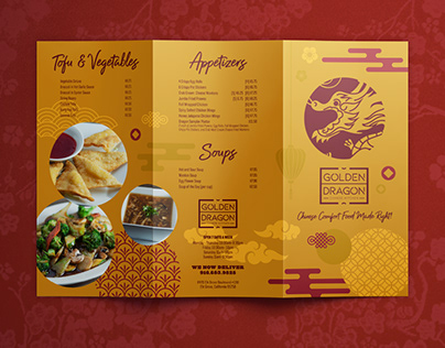 Menu design for a Chinese restaurant