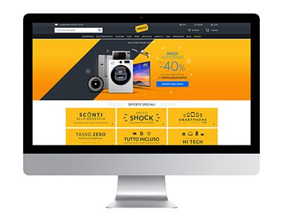 ePRICE Homepage prototypes 2016-2018