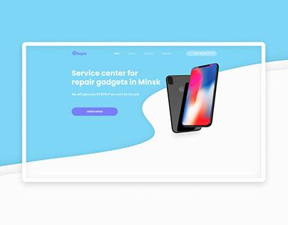 Service center landing page concept