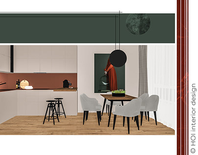 Concept card for modern interior
