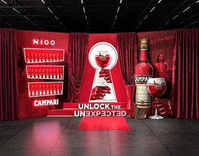 Campari promotional campaign corner - Unlock..