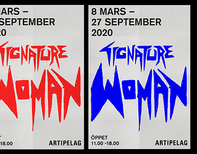 POSTER Signature woman