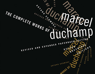 """Cover design for """"The complete works of Marcel Duchamp"""""""