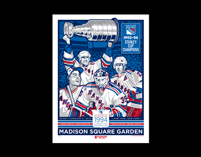 New York Rangers Stanley Cup Champions 25th Anniversary