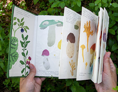 """Artist's foldout book """"On the forest clearing"""""""