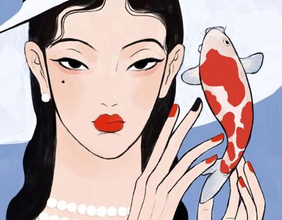Spring Festival illustration
